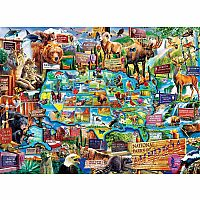 11942 Natl Parks Map Puzzle - 100 pc