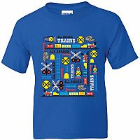 Shirt Train Icons Blue LG