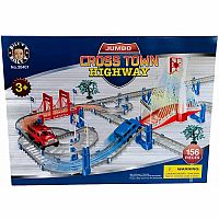 Crosstown Jumbo Highway Set (LEGO-Compatible)